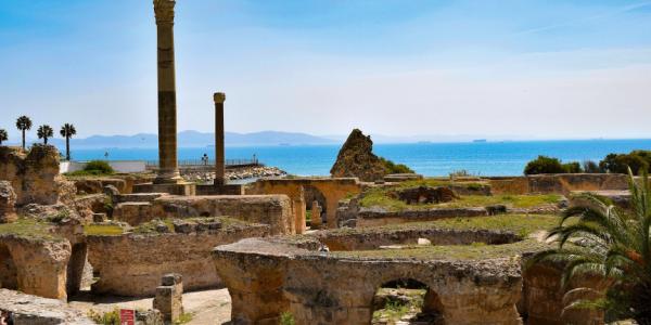 Les ruines de Carthage en Tunisie