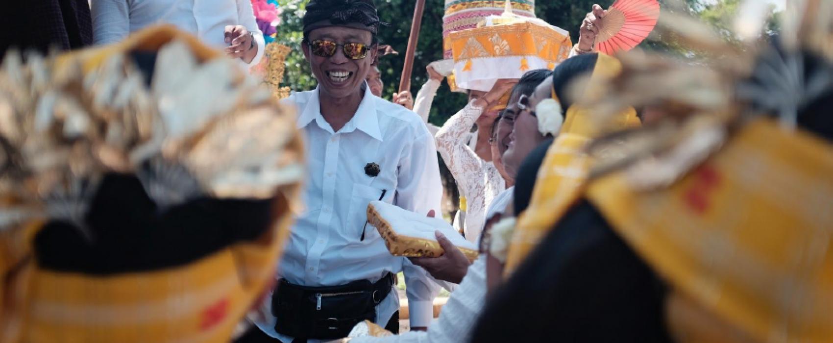 Photo d'un groupe de Balinais