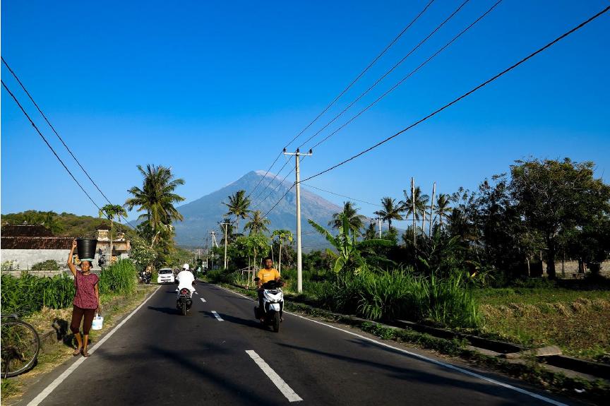 Photo des routes à Bali