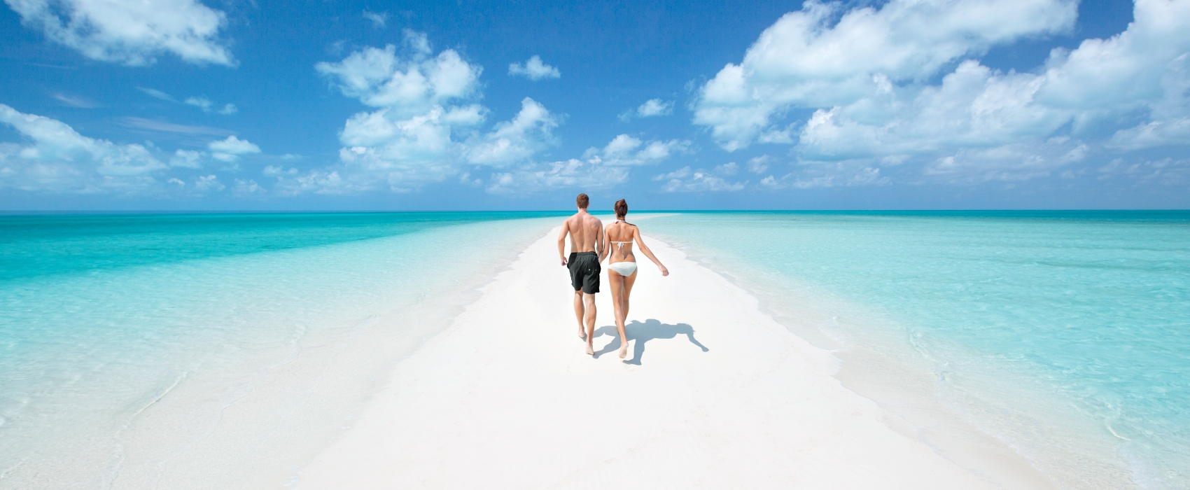 Plage de sable blanc aux Bahamas
