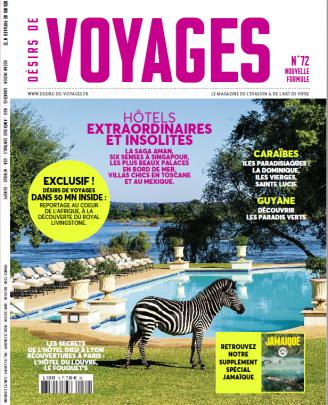 Désirs de voyage couverture de magazine